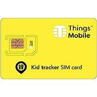 SIM Card Kid Tracker GSM/2G/3G/4G - ideal für die Überwachung von Kindern und Anderen Anwendungen wie Tiere, Senioren, Fahrzeuge, etc, mit 10 Karten