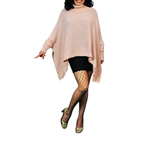Damen Strick-Poncho Pulli winter Mantel Damen Pullover Top JY-3 PO201601 15026a9 Rosa