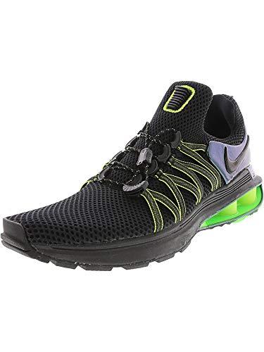 Nike Mens Shox Gravity Running Shoes AR1999 (11 B(M) US, Black/Black - Gorge Green)