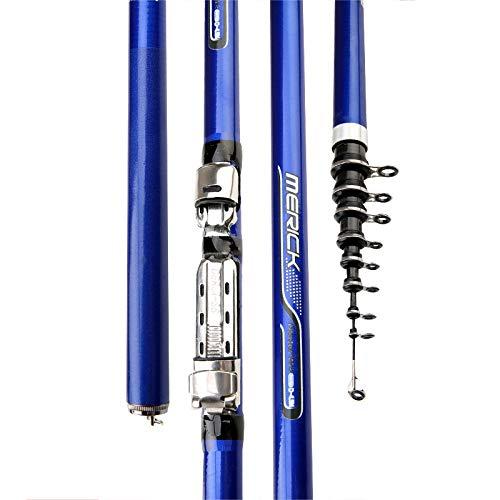 ZXZV Super Harte Angelrute,Carbon-Angelrute,Dual-Use-Wurf-Angelausrüstung Für Handseefischerei,Geeignet Für Freizeit Und Entspannung,Ausflug Lernen Angelrute/Blau / 6.3m