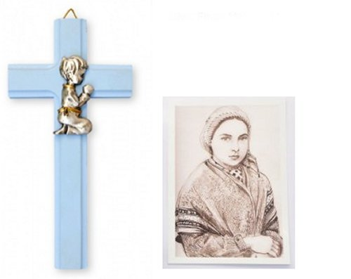 Baptism-Gifts-Blue-Cross-6-with-Praying-Boy-Lourdes-Prayer-Card-Baby-Gifts