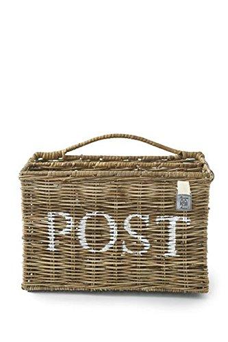 Rustic Rattan Post Basket/ Rattan Post Korb 32x16x21cm (Rattan-magazin-korb)