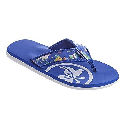 Urban Beach Ladies Cadillac Drive FW761 Toe Post Beach Flip Flops Sandals Shoes (Sizes 3-8 in Blue) (uk 7