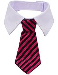 Kailian® Cosplay exceso de ceo rayas algodón Tie pequeño perros gatos cachorro cuello corbata negro Red/Black