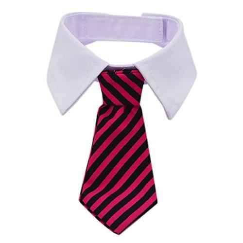 Kailian ® Cosplay Anmaßender CEO Streifen Baumwolle Krawatte Kleine Hunde Katzen Welpe Individuelle Krawatte