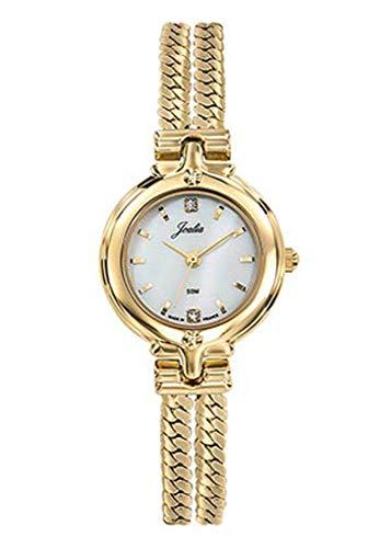 Joalia H630M574 - Orologio da donna con cinturino dorato, quadrante bianco e strass