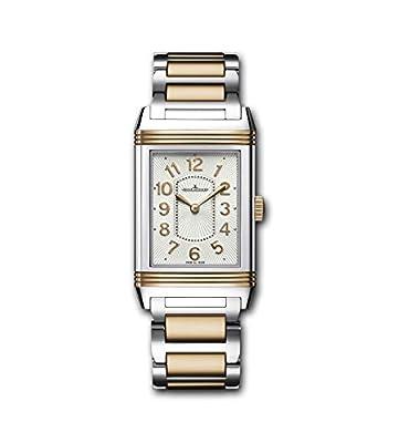 Jaeger LeCoultre Women's Reverso Two Tone Steel Bracelet Steel Case Quartz Silver-Tone Dial Watch Q3204120
