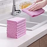 euwanyu 5Pcs Coconut Shell Washing Towel, Eco-Friendly Kitchen Dish Cloths, Absorbent Wash Cloth, Soft Kitchen Rags Lint-Free Cleaning Cloth Not Contaminated Oil