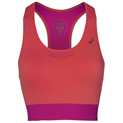 ASICS Cooling Seamless Sport-BH Damen korall/pink, M (Asics Sport-bh)