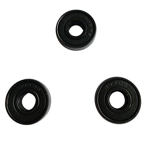 Preisvergleich Produktbild 3PCS 608 hybride Kugellager für Tri-Spinner Hand Spinner EDC Fidget Spielzeug (Schwarz)