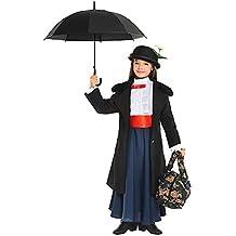 Costume di CARNEVALE da Tata Mary Vestito per Ragazza Bambina 7-10 Anni travestimento Veneziano