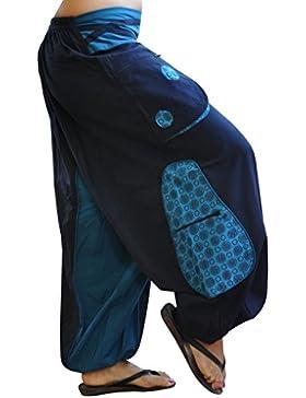 virblatt pantalones cagados de alta calidad corte suelto para hombres y mujeres (talla única) como ropa hippie...