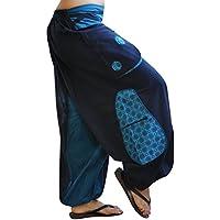 virblatt pantalones cagados de alta calidad corte suelto para hombres y mujeres (talla única) como ropa hippie y pantalones afganos largos S - L – Quirlig
