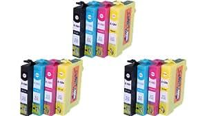 12 x XL Tintenpatronen kompatibel zu Epson T1281, T1282, T1283, T1284, Schwarz, Cyan, Magenta, Gelb