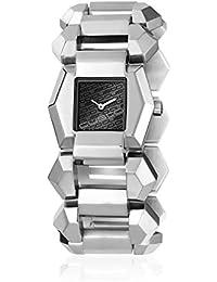Custo CU029202 - Reloj con correa de piel para mujer, color negro / gris