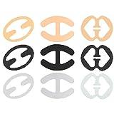RotSale® 9x Verschiedene Form BH Träger Clips Bra Anti-Rutsch Halter Fleischfarbe Transparent Schwarz
