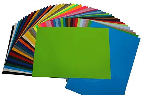 (40,16EUR/m²) PremiumFlex Plotterfolie DIN A4 Textil-Bügelfolie, Farbe:Apfelgün