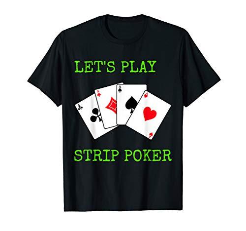 Strip Poker Spielkarten Spiel Karten Deko T-Shirt Geschenk
