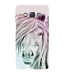 White Horse 3D Hard Polycarbonate Designer Back Case Cover for Samsung Galaxy A3 (2015 Old Edition) :: Samsung Galaxy A3 Duos :: Samsung Galaxy A3 A300F A300FU A300F/DS A300G/DS A300H/DS A300M/DS