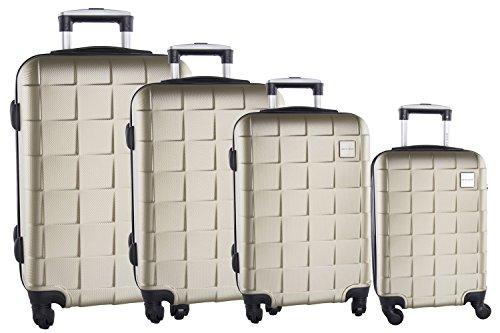 4 Maletas rígidas PIERRE CARDIN oro cabina para viajes 4 ruedas abs VS93