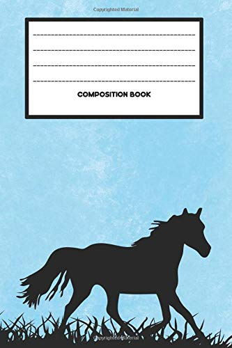 Composition Book: College Ruled Notebook Composition Book Diary Trotting Horse