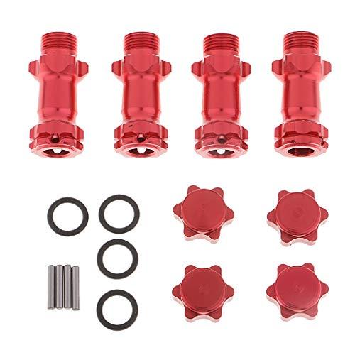 Homyl Metall Radnaben Verlängerung Hex Adapter Stecker 17 mm für RC Auto - rot