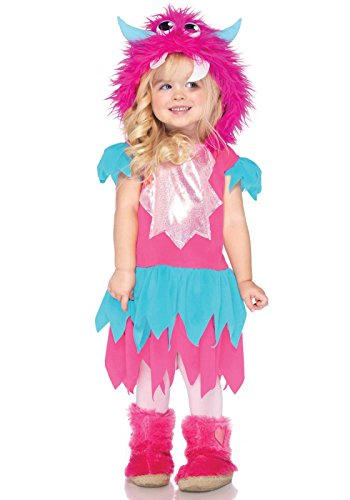 Sweetheart Monster Kinderkostüm, XX-Small (2T-3T) (Blau Rosa) ()