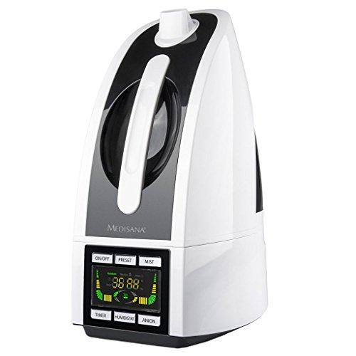 Medisana AH 665 Ultrasónica 4.5L 30W Negro, Color blanco - Humidificador (30...