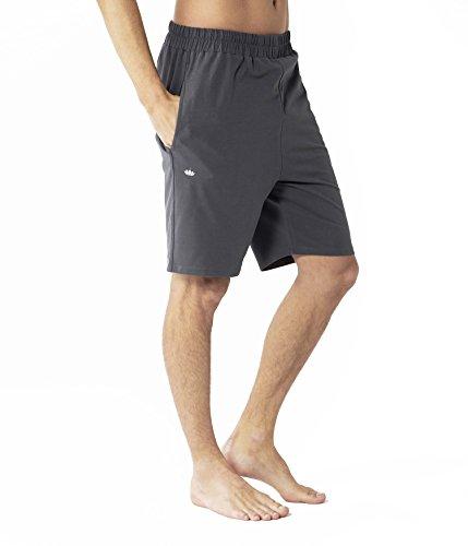 Lotuscrafts Yoga Shorts Männer aus Bio-Baumwolle - Fair & Ökologisch hergestellt - Sporthose Herren Kurz mit Taschen