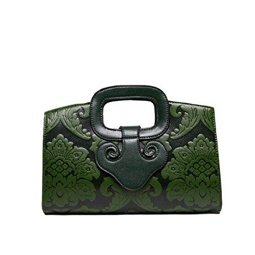 Chinesische Winddruck Handtasche Umhängetasche Diagonale Paket Handtasche Freizeit Mode Wild Green