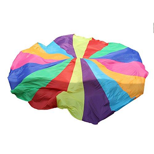 YeahiBaby Juego de Paracaídas de Acro Iris para Niños Paracaídas Entrenamiento Multicolores...