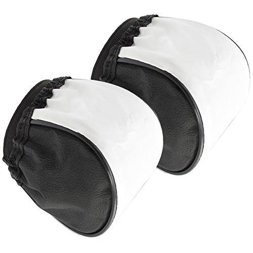 COM-FOUR® 2x Universal Blitz Stoff Diffusor in weiß, Stoffhaube für externe Aufsteckblitze (2-teilig) (Stoffhaube)