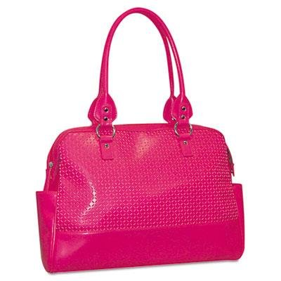 Buxton OC33T529PK Femme Floral Ladies Computer Tote, Faux Leather, 17 x 3-1/2 x 12, Pink (BUXOC33T529PK) by Buxton (Buxton Tote)