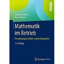 Mathematik im Betrieb: Praxisbezogene Einführung mit Beispielen