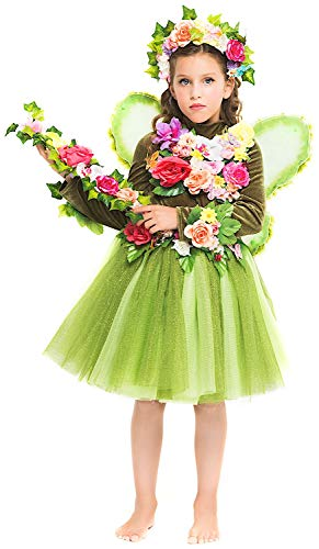 Costume di Carnevale da Fatina del Regno INCANTATO Baby Vestito per Bambina Ragazza 1-6 Anni Travestimento Veneziano Halloween Cosplay Festa Party 52362 Taglia 4