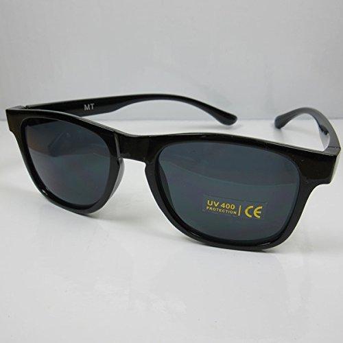 Nerd Sonnenbrille für Sie & Ihn M2 Wayfarer Brille Kultbrille 80er Gläser grau
