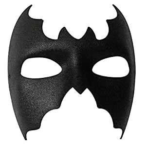 BLACK EYE MASK MASQUERADE SUPER HERO FANCY DRESS BAT MAN MASK (BATMAN MASK)