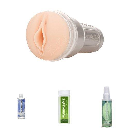 Fleshlight Girls Riley Reid (Utopia-Textur), inkl. Renewing Powder, Fleshlube Water Gleitmittel und Wash Reiniger