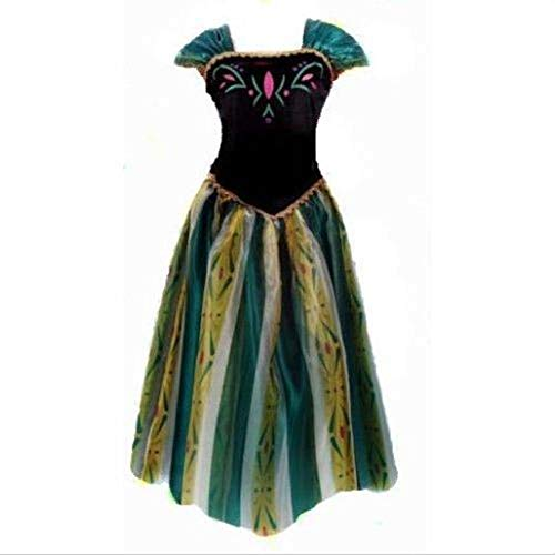 hhalibaba Geburtstag Mode EIS Schneekönigin Party Kostüm Cosplay Kleid Erwachsene Mädchen Dame Cinderella Schneewittchen Prinzessin (Eis Prinzessin Kostüm Für Erwachsene)