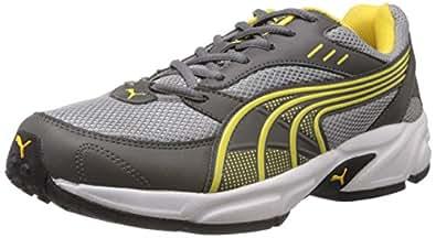 Puma Men's Storm 3.5 Grey and Yellow Mesh Running Shoes - 6 UK/India (39 EU)