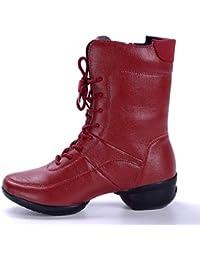 4294d4c2e9475 Dundun-boots, 2018 Nouvelles Bottes à Venir, Bottes de Danse Montantes avec  Doublure en Molleton à glissière latérale…