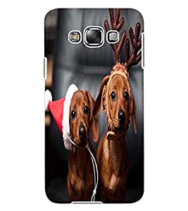 ColourCraft Cute Funny Dogs Design Back Case Cover for SAMSUNG GALAXY E7