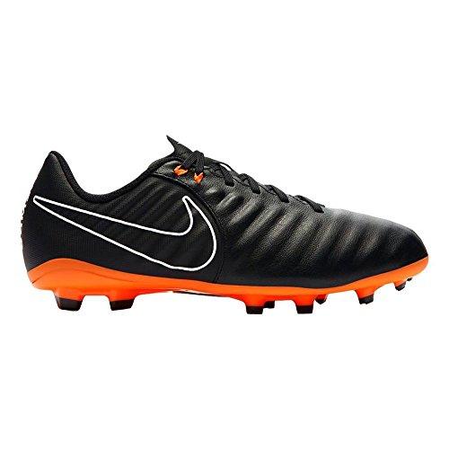 Nike Unisex-Kinder Jr. Tiempo Legend 7 Academy FG Fußballschuhe, Blau (Black/Black/White/Total Orange 080), 33 EU