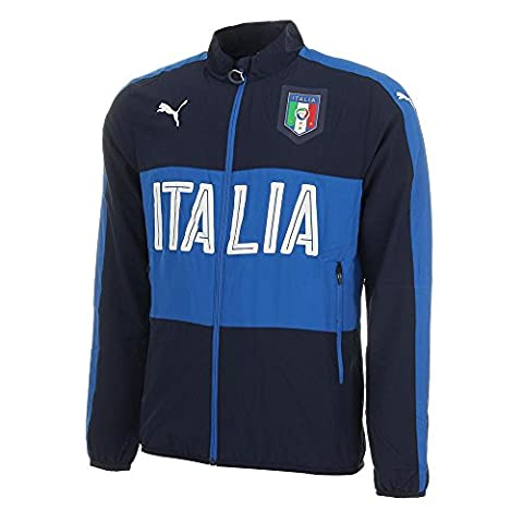 FIGC Italia Woven Jacket peacoat-team power blue 16/18 Italy Puma XS peacoat-team power blue