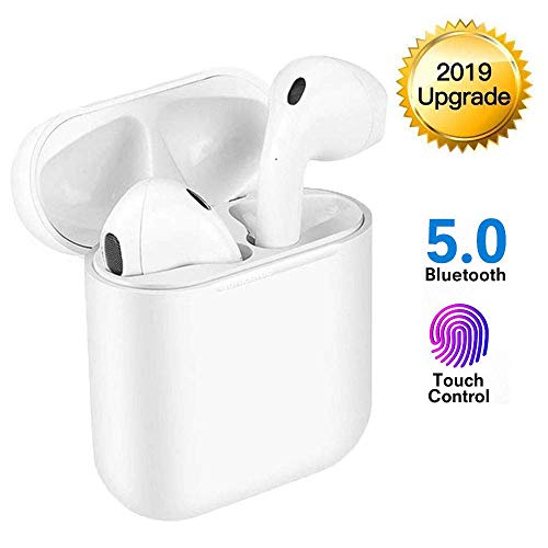 Bluetooth Headphones,Bluetooth 5.0 Wireless Earbuds,Noise Canceling 3D Stereo IPX5 Waterproof Sports Headset,Pop-ups Auto Pairing,compatible with Apple Airpods Android/Iphone
