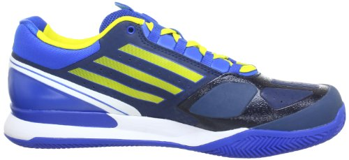adidas Performance  Adizero Feather II Clay,  Scarpe da tennis uomo Blu (Blau (Sub Blue S13 / Vivid Yellow S13 / Prime Blue S12))