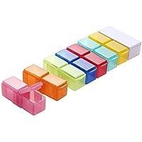 Preisvergleich für Tablettenbox 7 Tage Medikamentenbox Reise Wochendosierer Morgens Abends Mini Pillendose Kostenlos Tablettenteiler