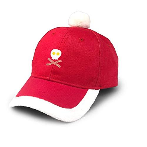 Rundafuwu Weihnachtsbaseballmütze Bacon Egg Weihnachtsbaseballmütze,Fashionable Santa Hat Red/WhiteChristmas Accessory