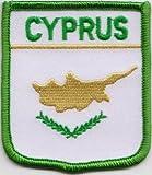 Bandera de Chipre parche bordado (A165)