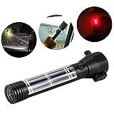 SEGRJ 9-in-1 Solar Bright LED-Taschenlampe Kompass Emergency Hammer Cutter Survival Tool